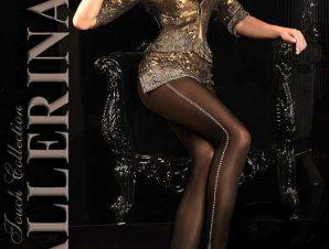 2213 BA Καλσόν Ballerina που συνδυάζει μαύρο και μπεζ χρώμα -Μαύρο
