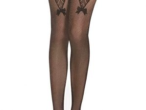 Κάλτσα δίχτυ με καλτσοδέτα Iris – Μαύρο