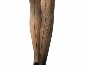 Κάλτσα Δίχτυ με Κόκκινο Φιόγκο